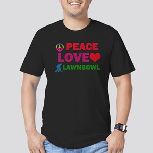 Peace Love Lawnbowl Designs Men's Fitted T-Shirt (