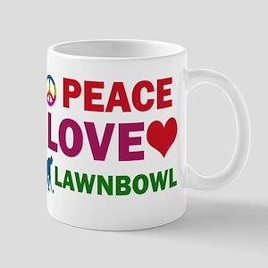 Peace Love Lawnbowl Designs Mug