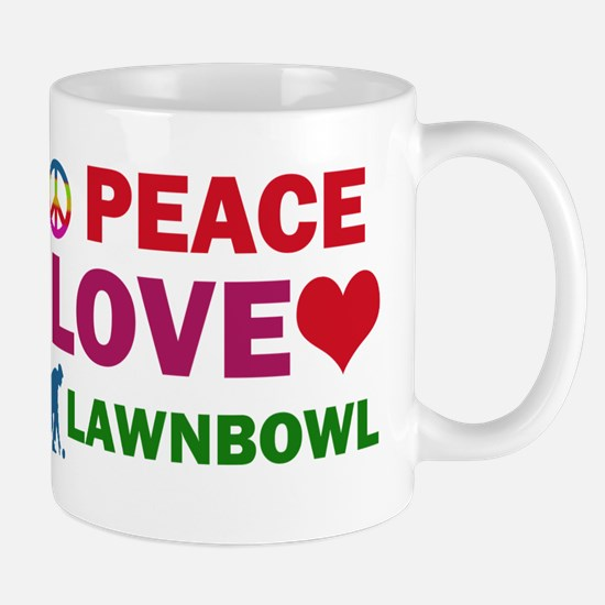 Peace Love Lawnbowl Designs Mug