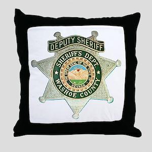 Washoe County Sheriff Throw Pillow