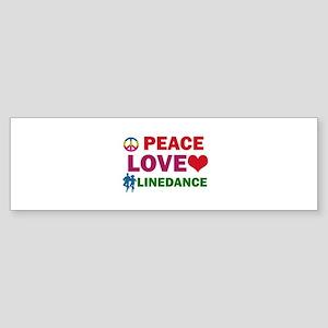 Peace Love linedance Designs Sticker (Bumper)