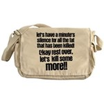 Minute silence Messenger Bag