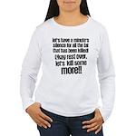 Minute silence Women's Long Sleeve T-Shirt