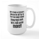Minute silence Large Mug