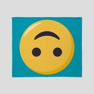 Emoji Upside Down Smiling Face Throw Blanket