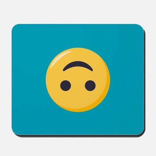 Emoji Upside Down Smiling Face Mousepad