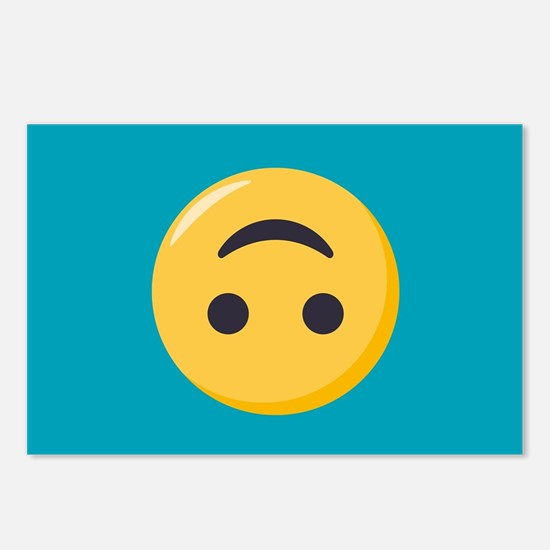 Emoji Upside Down Smiling Postcards (Package of 8)