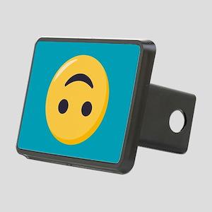 Emoji Upside Down Smiling Rectangular Hitch Cover