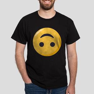 Emoji Upside Down Smiling Face Dark T-Shirt
