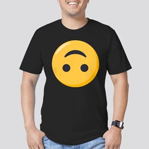 Emoji Upside Down Smil Men's Fitted T-Shirt (dark)