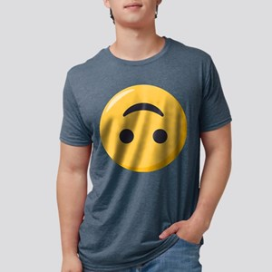 Emoji Upside Down Smiling F Mens Tri-blend T-Shirt