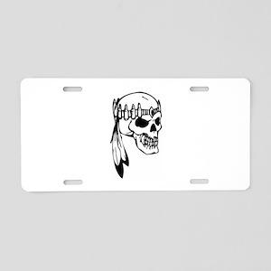 Skull Aluminum License Plate