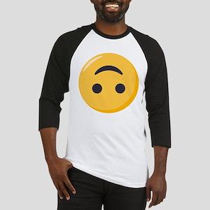 Emoji Upside Down Smiling Face Baseball Tee