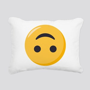 Emoji Upside Down Smilin Rectangular Canvas Pillow