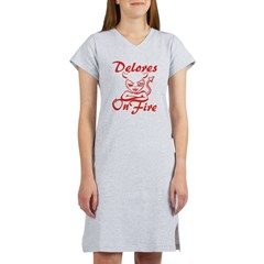 Delores On Fire Women's Nightshirt