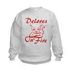 Delores On Fire Kids Sweatshirt