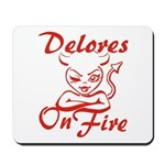 Delores On Fire Mousepad