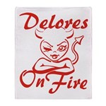 Delores On Fire Throw Blanket