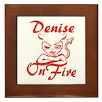 Denise On Fire Framed Tile