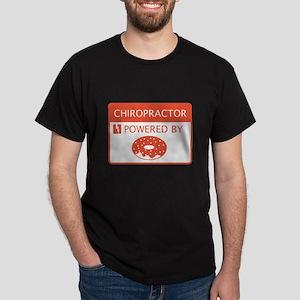 Chiropractor Powered by Doughnuts Dark T-Shirt