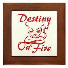 Destiny On Fire Framed Tile