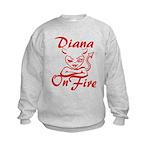 Diana On Fire Kids Sweatshirt