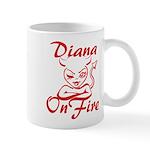 Diana On Fire Mug