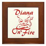 Diana On Fire Framed Tile