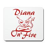 Diana On Fire Mousepad