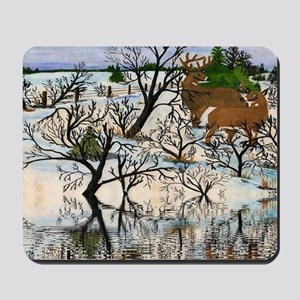 Farm Deer Reflection Mousepad