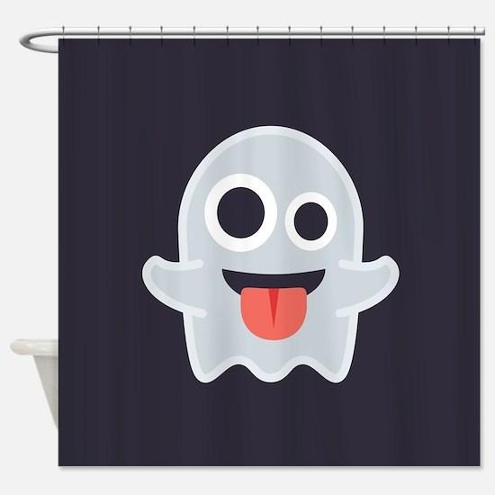 Ghost Emoji Shower Curtain