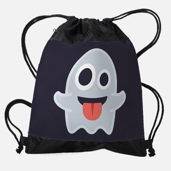 Ghost Emoji Drawstring Bag