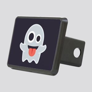 Ghost Emoji Rectangular Hitch Cover