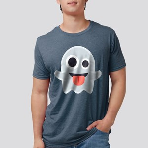 Ghost Emoji Mens Tri-blend T-Shirt