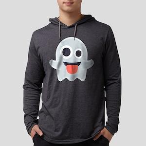 Ghost Emoji Mens Hooded Shirt