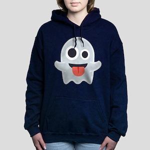 Ghost Emoji Women's Hooded Sweatshirt