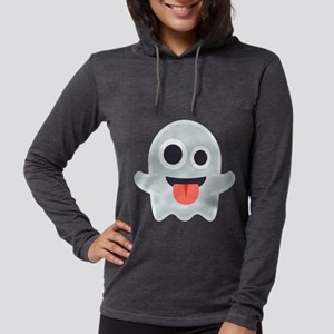 Ghost Emoji Womens Hooded Shirt