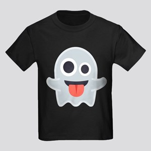 Ghost Emoji Kids Dark T-Shirt