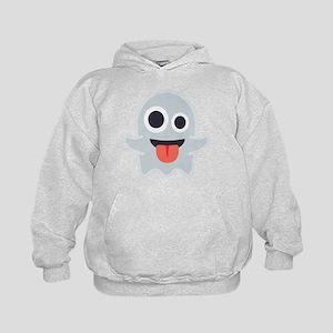Ghost Emoji Kids Hoodie