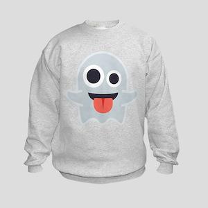 Ghost Emoji Kids Sweatshirt