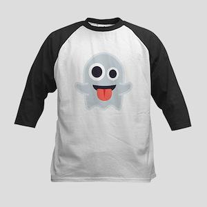 Ghost Emoji Kids Baseball Tee