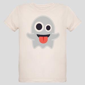 Ghost Emoji Organic Kids T-Shirt