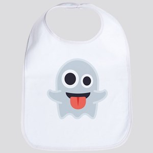 Ghost Emoji Cotton Baby Bib