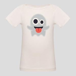 Ghost Emoji Organic Baby T-Shirt