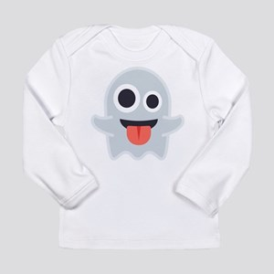 Ghost Emoji Long Sleeve Infant T-Shirt