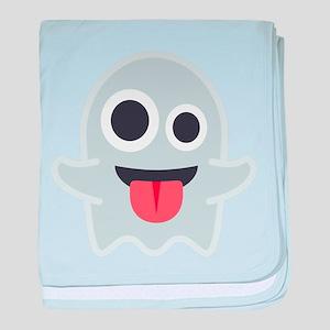 Ghost Emoji baby blanket