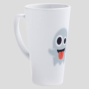 Ghost Emoji 17 oz Latte Mug