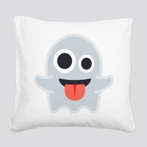 Ghost Emoji Square Canvas Pillow