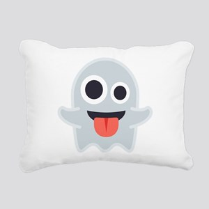 Ghost Emoji Rectangular Canvas Pillow