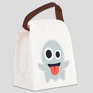 Ghost Emoji Canvas Lunch Bag